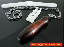 TRADITIONAL HIGH LEVEL CISTERN FLUSH PULL CHAIN WOODEN HANDLE KIT CW VAT INVOICE