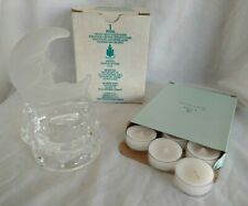Partylite Crescent Moon Tealight Holder P0346 & Iced Snowberries Tealight V04123