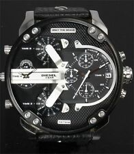 DIESEL Daddy 2.0 Black Dial Stainless Steel Black Strap Men`s Watch DZ7313