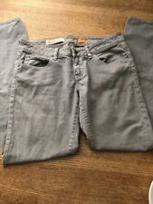 Anthropologie Pilcro And The Letterpress  White Stet Fit Straight Pants Size 27