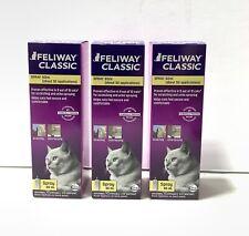Lot Of 3 Feliway Classic Spray 60 mL Each ^.^ Exp 2022 ~ New