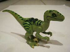 Lego Velociraptor-rare green DINOSAUR - JURASSIC PARK?- loose - great condition.