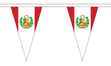 Peru Crest Triangle Bunting 12 flags on this 5 meter Long Bunting