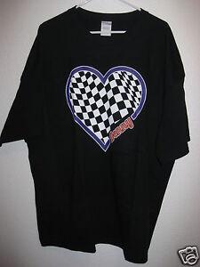 Gildan Denny Hamlin #11 FedEx Womens I love Denny Heart Shirt Size 3XL NEW
