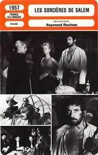 FICHE CINEMA : LES SORCIERES DE SALEM - Signoret,Montand 1957 Witches of Salem