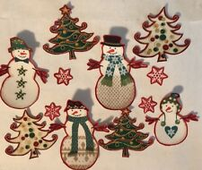 New Snowman Forest - Christmas- Iron On Fabric Appliques