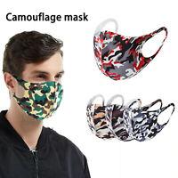 5 x Mundschutz Behelf-Mund-Nasen-Atem-Schutz Maske Waschbar Camouflage