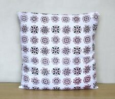 """16"""" Cushion Cover Square Red Green Flora Decorative Pillow Case Covers Indian"""
