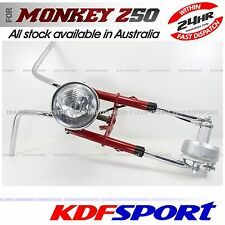 KDF FRONT END FORK DRUM LEG HUB HANDLEBAR HEADLIGHT RED 50 FOR HONDA MONKEY Z50