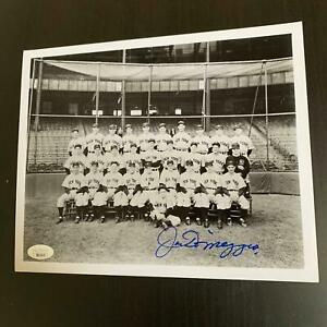Joe Dimaggio Signed 1940's New York Yankees Team Photo With JSA COA
