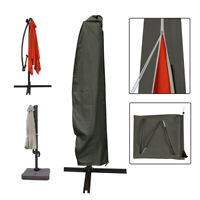 Parasol Offset Umbrella Cover Cantilever Outdoor Garden Patio Shield Fit 8-11ft