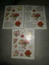 New ListingVintage Hallmark Marjolein Bastin Floral Sticker Sheets Roses Peonies