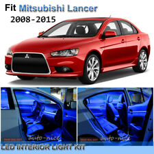 For 2008-2015 Mitsubishi Lancer Premium Blue LED Interior Lights Kit 7 Pieces