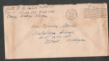 WWII cover Pvt J R Weir Co C 83 BN ITB 21st ITR Camp Maxey TX to Detroit