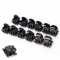 12 Pcs Women Black Plastic Mini Hairpin 6 Claws Hair Clip Hairclip Clamp Fashion