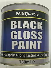 Black Gloss Paint 750ml Large Can!!