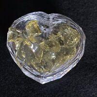RARE Retired Swarovski Crystal SCS Anna Jewel Box with Yellow Hearts 666890 Mint