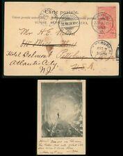 Mayfairstamps Switzerland 1900 Interlaken to Atlantic City NJ Man Wave Postcard