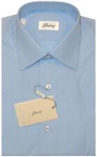 $600 NEW BRIONI LIGHT BLUE HAND MADE DRESS SHIRT MENS TEEN KIDS EU 37 14.5