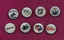 RARE 8 X  BUD LIGHT BOTTLE CAP NHL TEAM LOGO