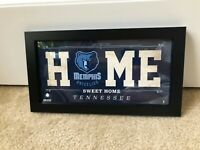 Grizzlies Memphis Steiner Sports NBA 6x12 Home Sweet Home Sign Frame Tennessee
