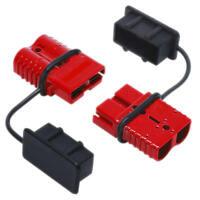 50A Auto PKW KFZ Batterie Verbindung Stecker & Schutzkappe Staubschutzkappe
