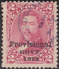 Hawaii - 1893 - 2 Cents Rose with Black Overprint Issue # 66 w/ Unknown Cancel