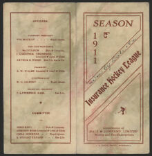 1911  Insurance Hockey League (Montreal?)  Schedule