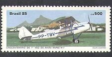 Brazil 1985 Muniz/Biplane/Planes/Aircraft/Transport/Aviation 1v (n38087)