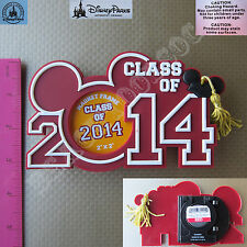 New Authentic Original Disney Mickey Graduation Class 2014 Picture Magnet Frame