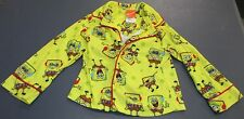 Boy's Toddler Size XS Spongebob Print Nickelodeon Pajama Top Yellow Long Sleeve
