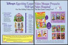 Disney/Jim Henson Ostern Video Shoppe __ orig. 1994 Handel AD ___ Alvin & Chipmunks