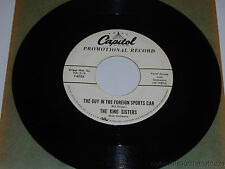 THE KING SISTERS The Guy In The Foreign Sports Car/ Autumn Time 45 Capitol F4054