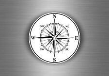 Autocollant sticker voiture moto boussole compass vintage macbook r4 nautique