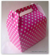 Pink White Polka Hot Party Supplies Boxes Birthday Decoration Gable x12 Dots New