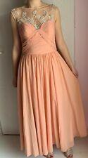Damen Abiballkleid Abschlussballkleid Abendkleid Ballkleid S/38/36 aprikot