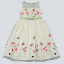 Jona Michelle Girls Yellow Tulle Overlay Ladybug Floral Party Dress 10 kg1