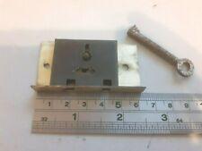 Brass-Steel Box- Chest Lock 1 Key (1771) 63mm x 33mm