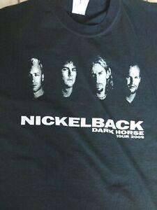 2009 Nickelback DARK HORSE Tour Concert T-Shirt  Black Men's Size XL Two Sided