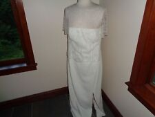 Michaelangelo Wedding Dress Size 16 Beaded Detail Off White Column Sheath