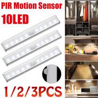 10 LED Night Light PIR Motion Sensor Wireless Wall Closet Cabinet Stair Lamp