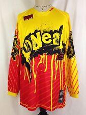O'Neal Mayhem Mens Motocross Jersey L Size Long Sleeve Shirt MX Yellow Red Black
