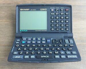 Sharp ZQ-5450 Electronic Organiser 128KB - Vintage Retro - Non Working