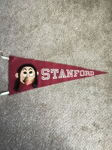Vintage 1950' 60's Stanford Indians Football pennant Unique Style