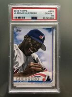2019 TOPPS #675 VLADIMIR GUERRERO SP LEGENDS SHORT PRINT - PSA 10 - GEM MINT