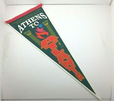 Vintage Wincraft 1996 Athens to Atlanta Olympics Olympiad Pennant 100 Years