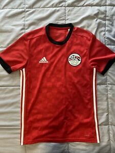 2018 Egypt Home Jersey Men's Small Adidas World Cup Soccer Pre Owned