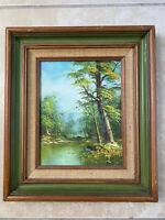 Vintage Irene Cafieri Original Oil Painting Framed Signed Landscape Forest COA
