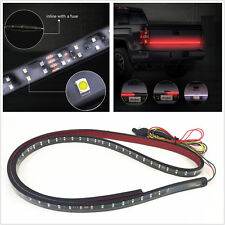 "Waterproof 60"" 180LED Car 2-Row Tailgate Light Strip Turn Signal Lamp Red/White"