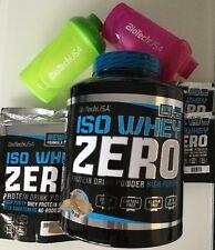 (20,55€/pro kg) BioTech USA ISO Whey Zero 2270g+(500g Bonus)+ 2 Shaker
